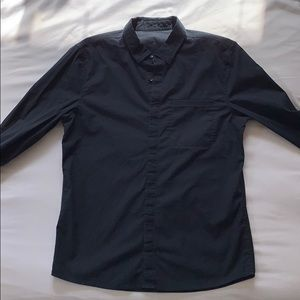 Lululemon navy blue recommission ls button down